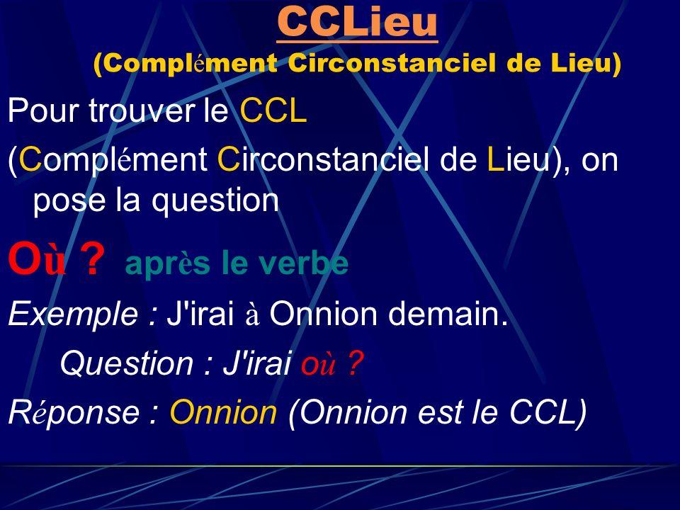 exemple de c o i