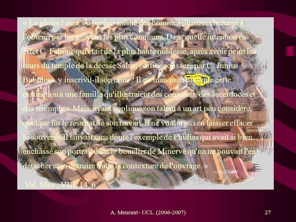 A.Meurant - UCL (2006-2007)28 Construit en 312 av.