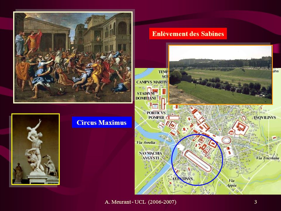 3 Enlèvement des Sabines Circus Maximus