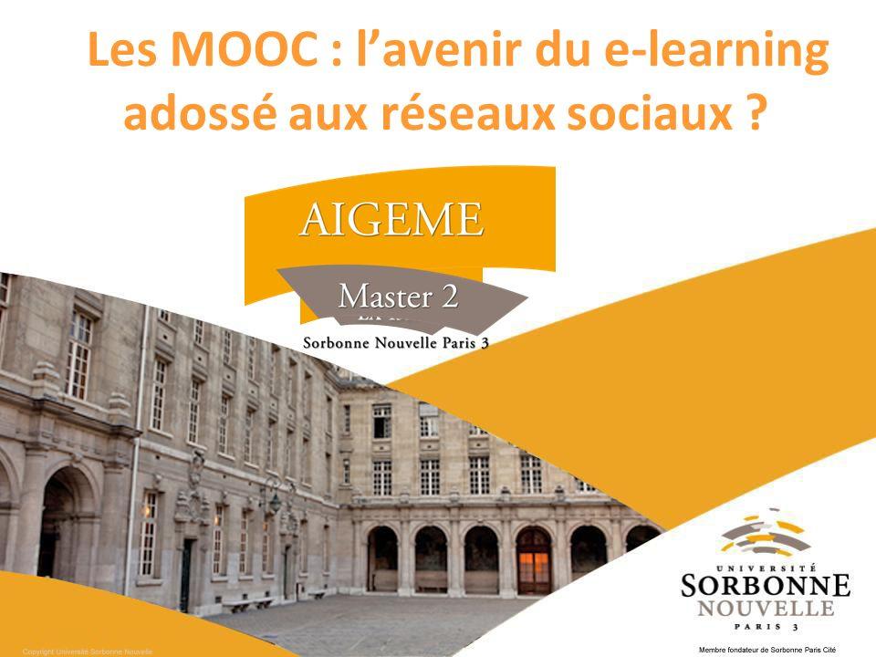 Les MOOC : lavenir du e-learning adossé aux réseaux sociaux ? *
