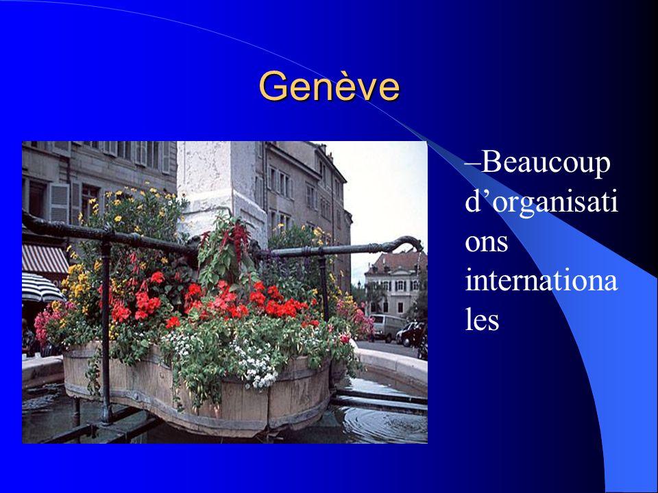 Les villes Genève Lausanne Zurich