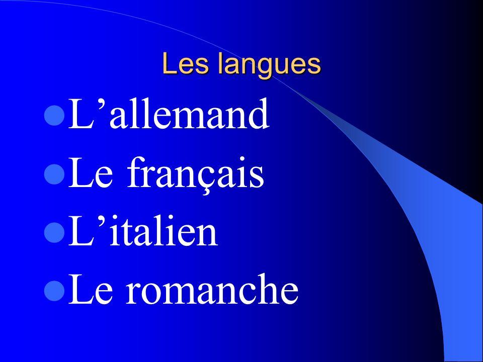 Situation géographique Cest un pays de lEurope centrale Elle a des frontières avec lAllemagne, lAutriche, le Liechtenstein, lItalie, la France.