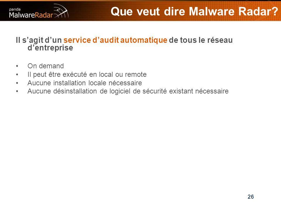 26 Que veut dire Malware Radar.