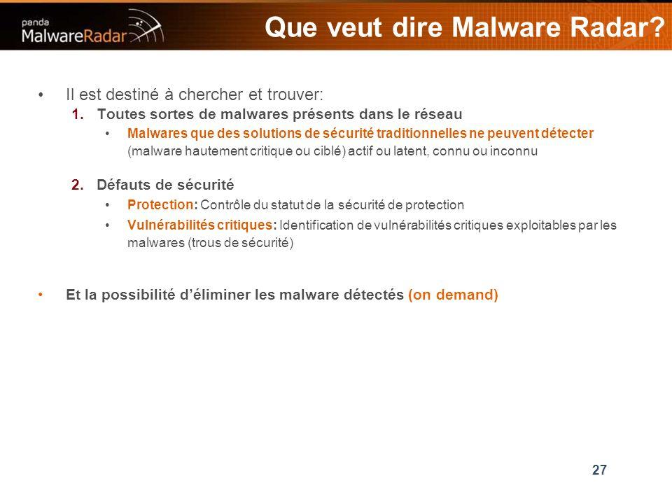 27 Que veut dire Malware Radar.