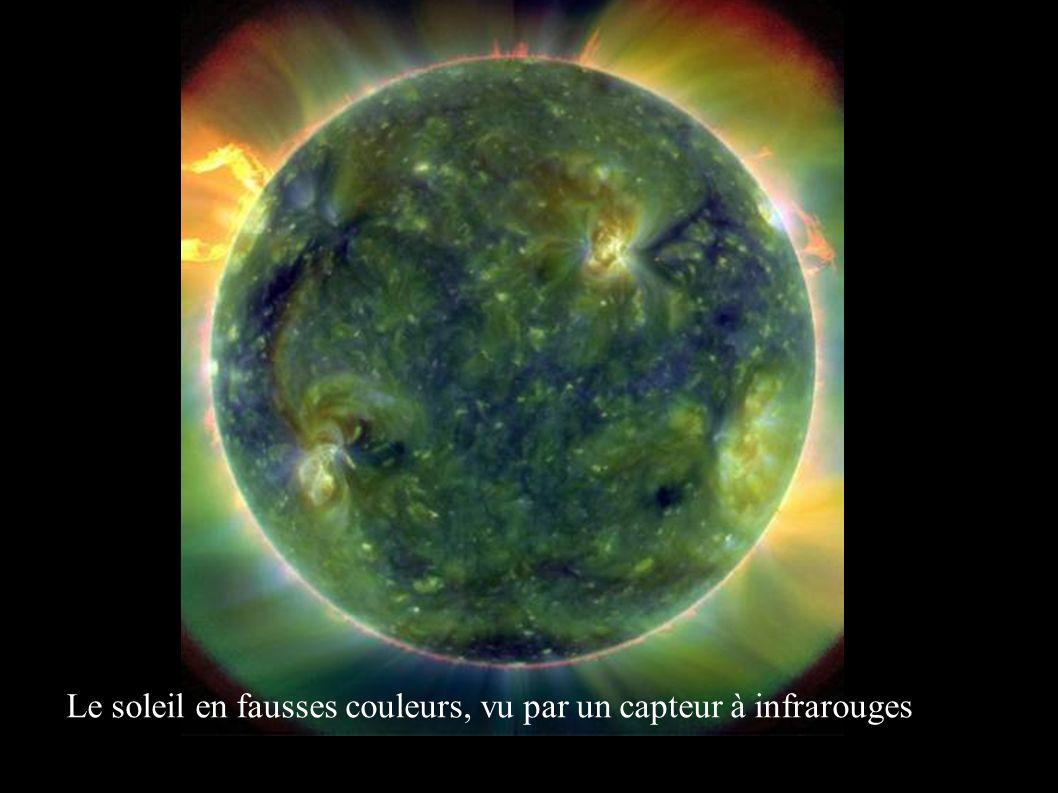 Le soleil en fausses couleurs, vu par un capteur à infrarouges