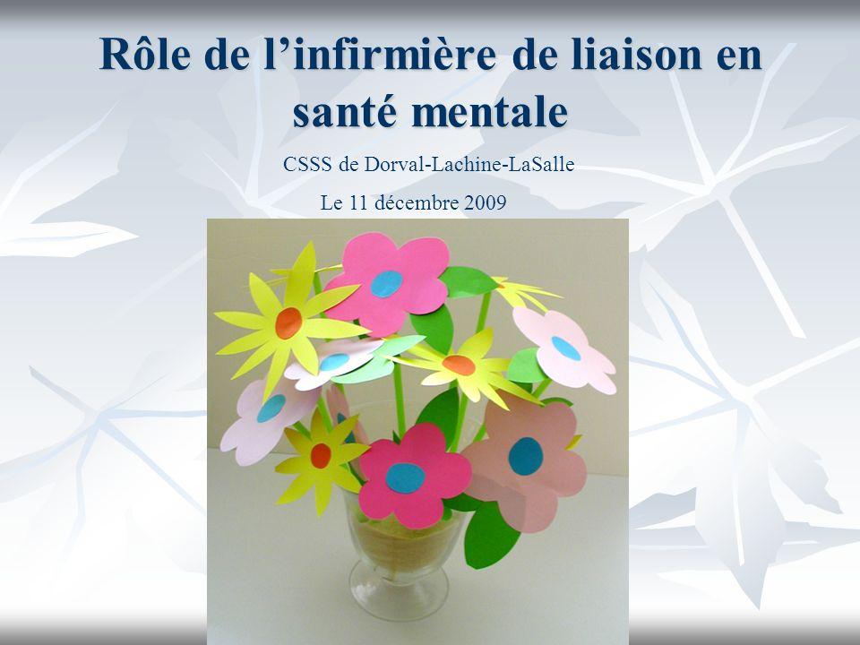 Rôle de linfirmière de liaison en santé mentale CSSS de Dorval-Lachine-LaSalle Le 11 décembre 2009