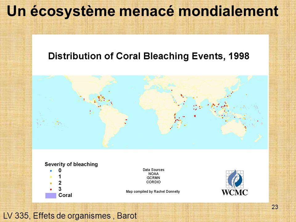 23 Un écosystème menacé mondialement LV 335, Effets de organismes, Barot