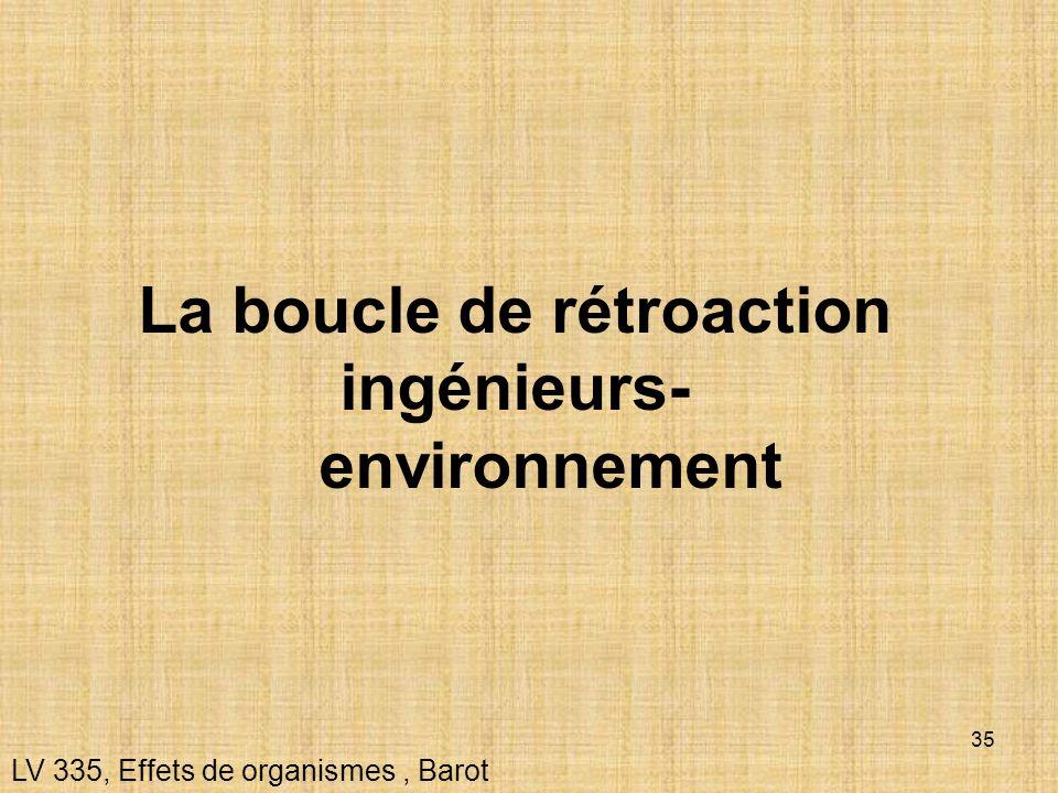 35 La boucle de rétroaction ingénieurs- environnement LV 335, Effets de organismes, Barot