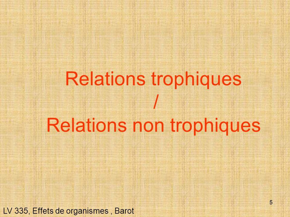 5 LV 335, Effets de organismes, Barot Relations trophiques / Relations non trophiques