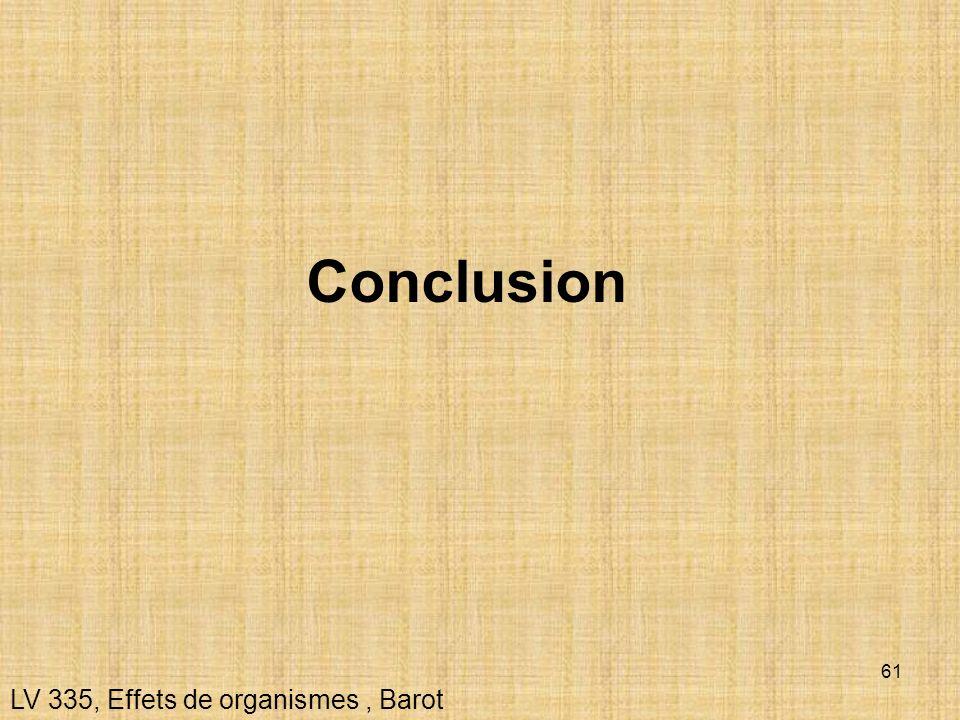 61 Conclusion LV 335, Effets de organismes, Barot