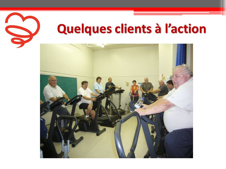 Quelques clients à laction