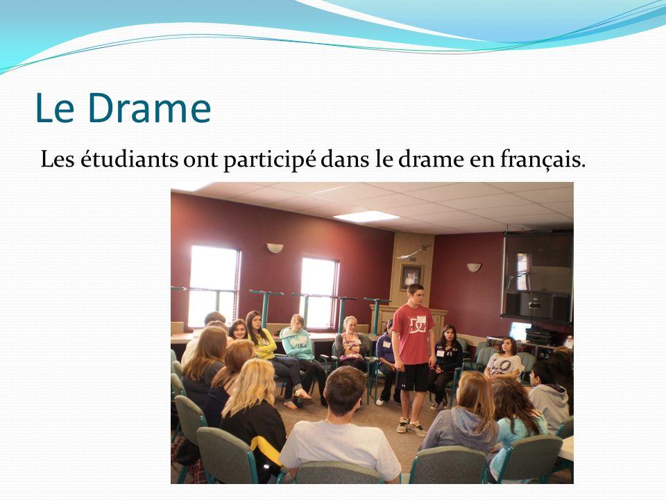 Le Drame Les étudiants ont participé dans le drame en français.