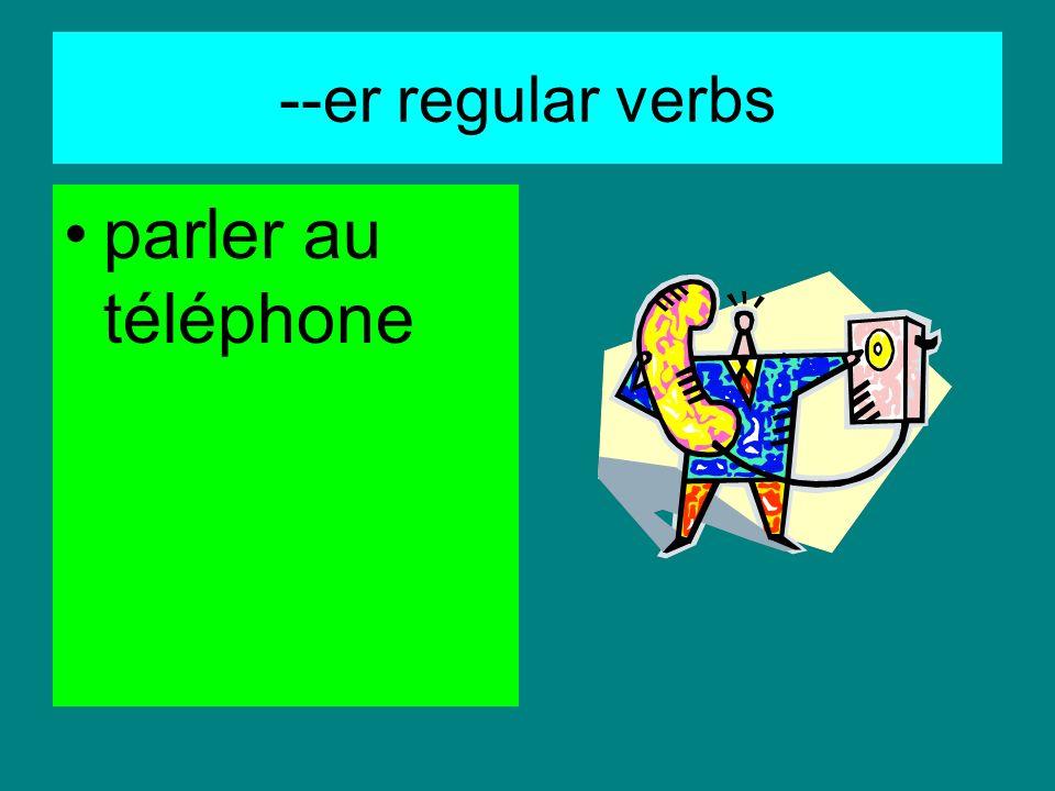 --er regular verbs regarder la télé