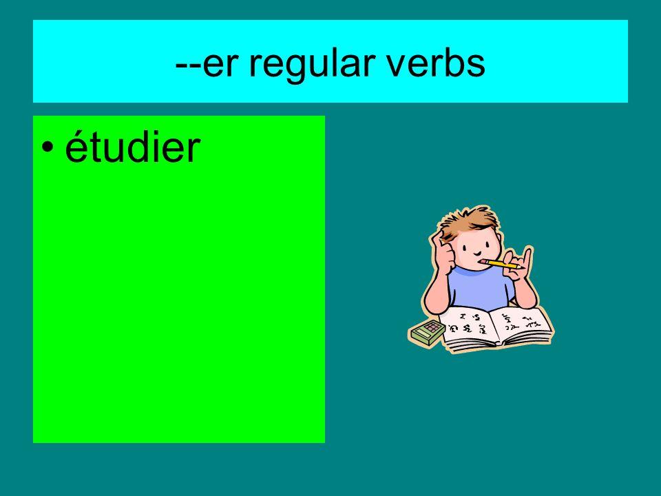 --er regular verbs parler au téléphone