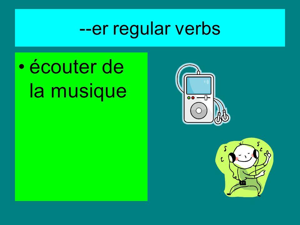 --er regular verbs voyager