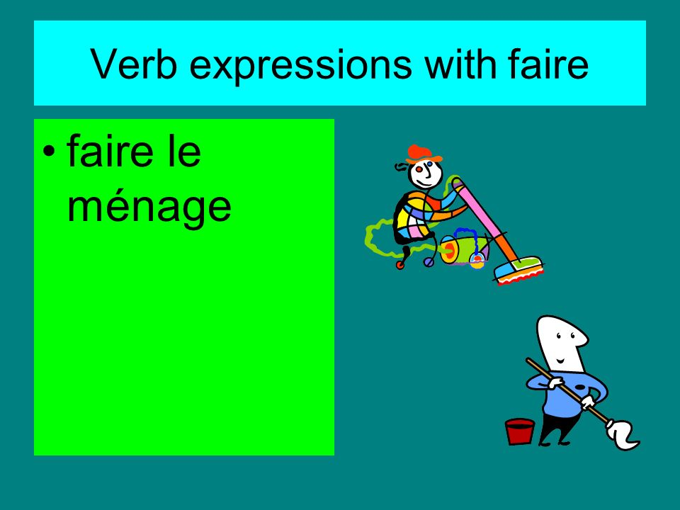 Verb expressions with faire faire de léquitation