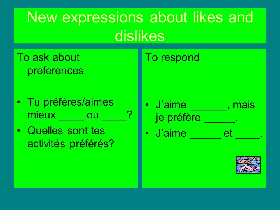 Verb expressions with faire faire du sport