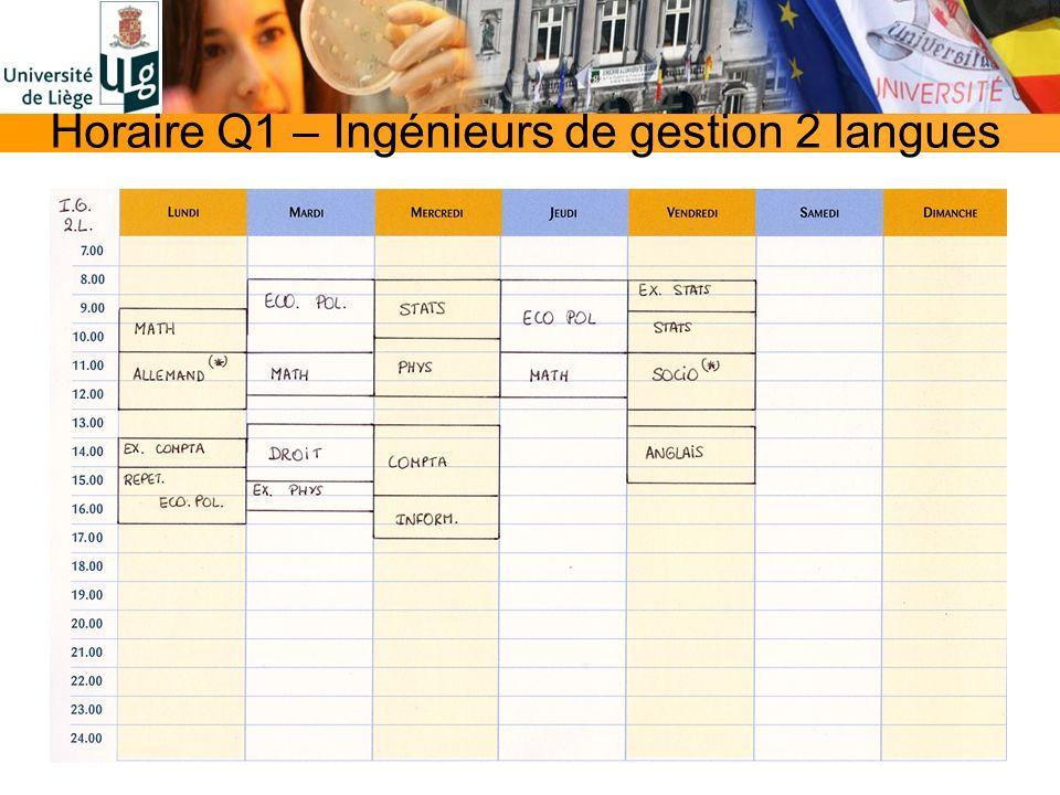 Horaire Q1 – Ingénieurs de gestion 2 langues
