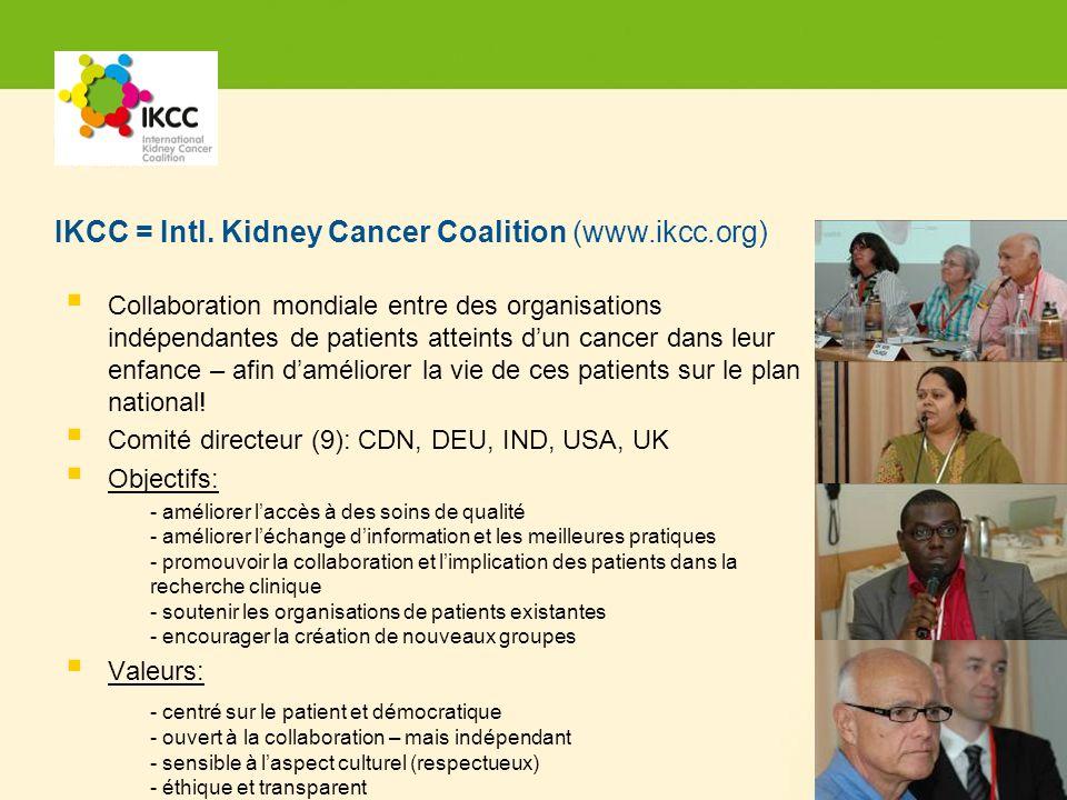 Hier steht Ihre Fußzeile Seite 16 Collaboration mondiale entre des organisations indépendantes de patients atteints dun cancer dans leur enfance – afin daméliorer la vie de ces patients sur le plan national.