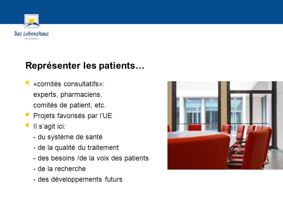 Hier steht Ihre Fußzeile Seite 26 «comités consultatifs»: experts, pharmaciens, comités de patient, etc.