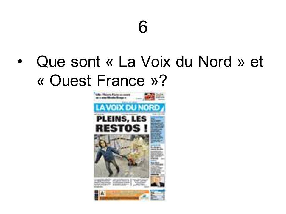 6 Que sont « La Voix du Nord » et « Ouest France »?