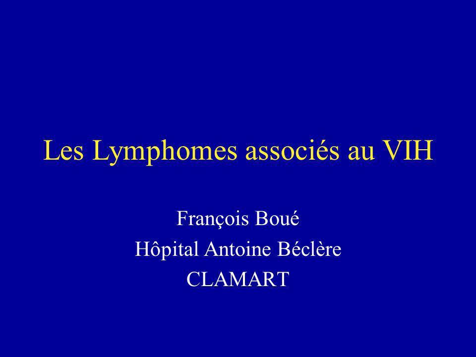 Les Lymphomes associés au VIH François Boué Hôpital Antoine Béclère CLAMART