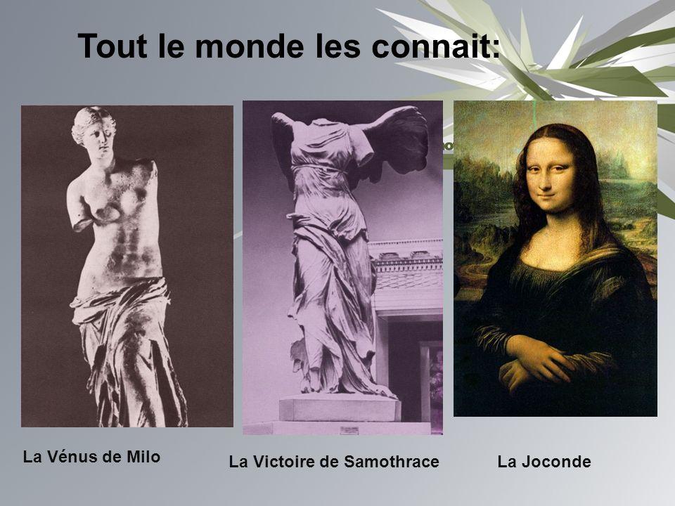 Tout le monde les connait: La Vénus de Milo La Victoire de SamothraceLa Joconde