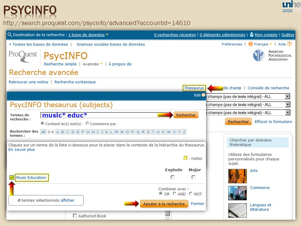http://search.proquest.com/psycinfo/advanced accountid=14610 music* educ*