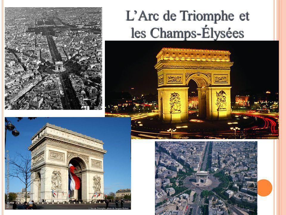 LArc de Triomphe et les Champs-Élysées