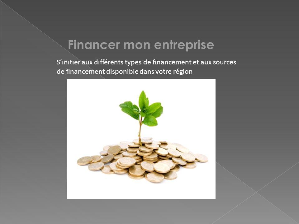 Financer mon entreprise Sinitier aux différents types de financement et aux sources de financement disponible dans votre région
