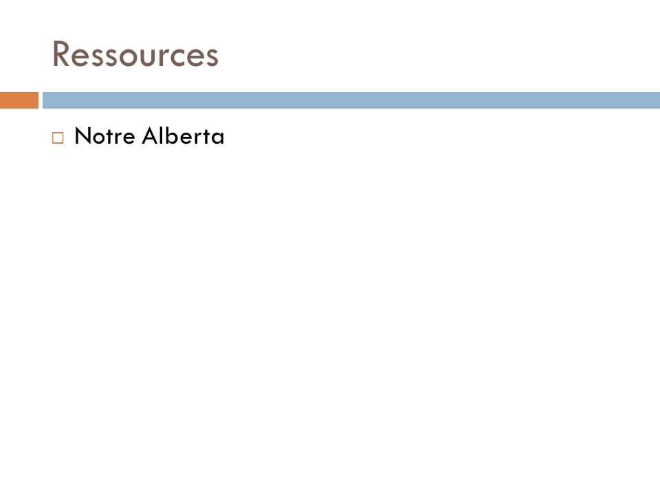 Ressources Notre Alberta