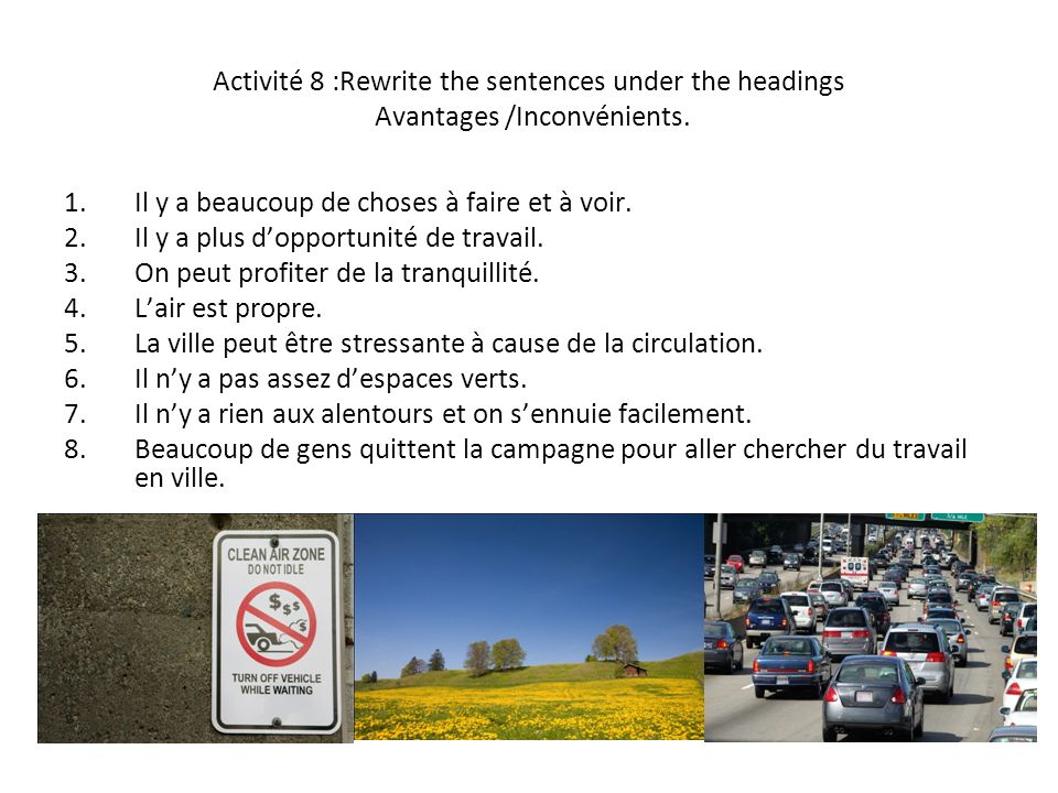 Activité 9 : Read the text and fill the gaps with the words provided in the word bank.