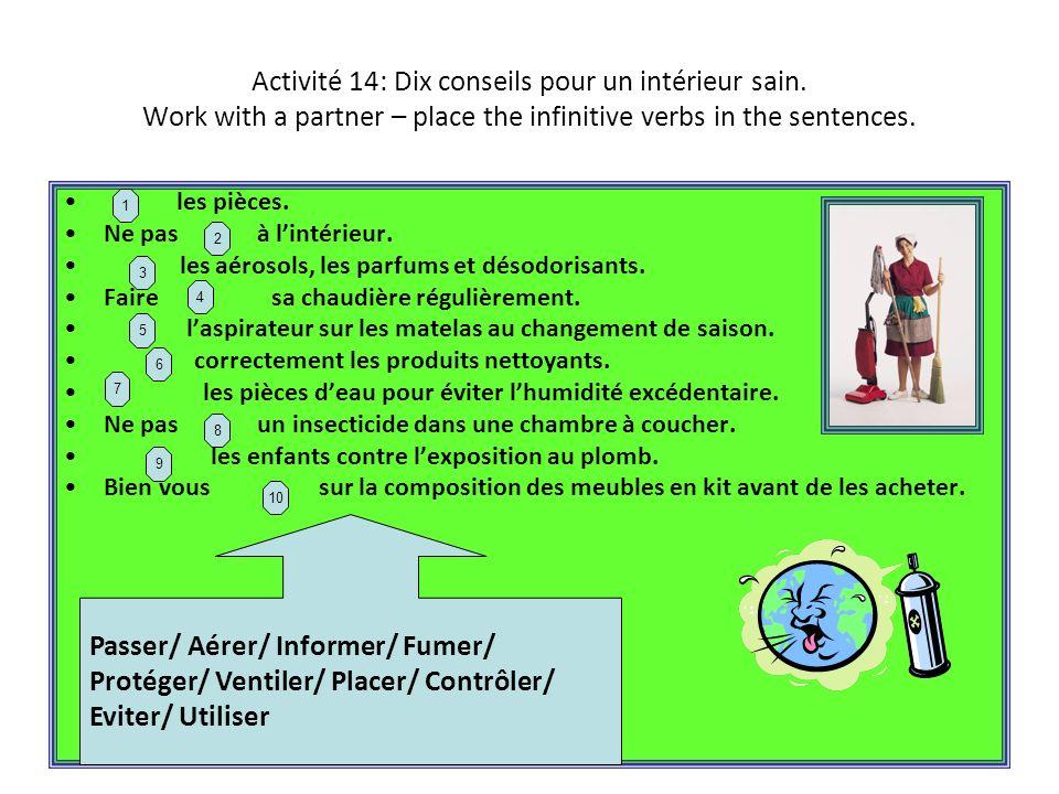 Activité 15: work with a partner.
