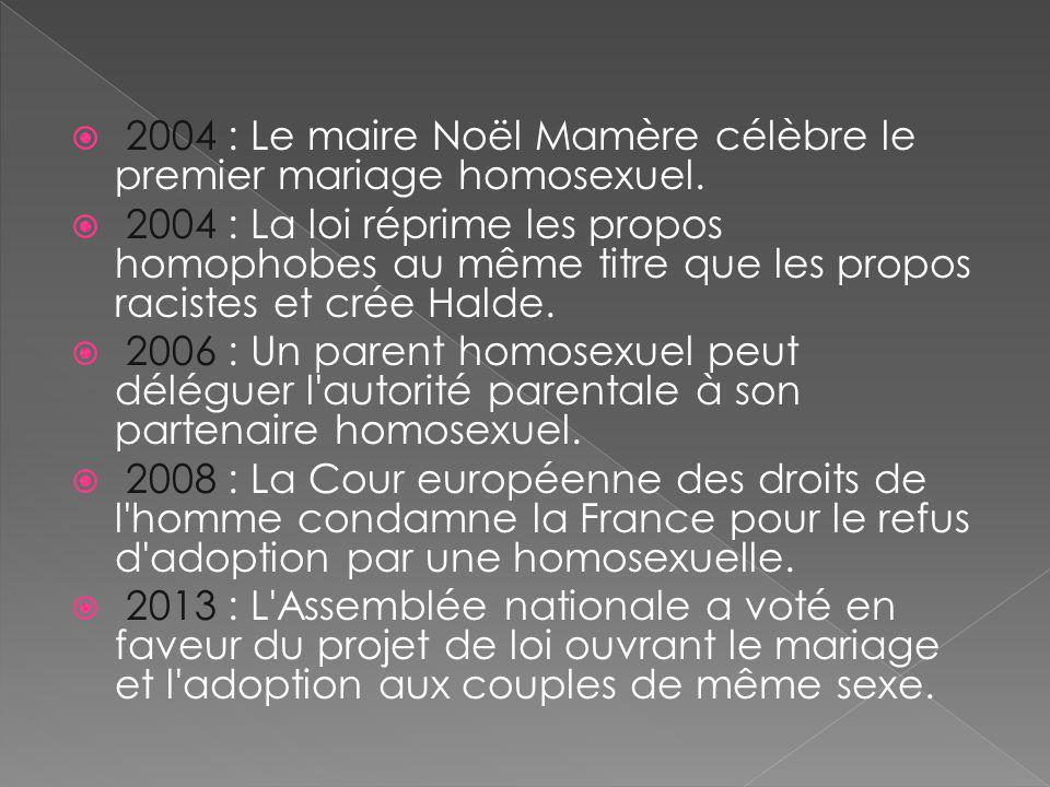 2004 : Le maire Noël Mamère célèbre le premier mariage homosexuel.