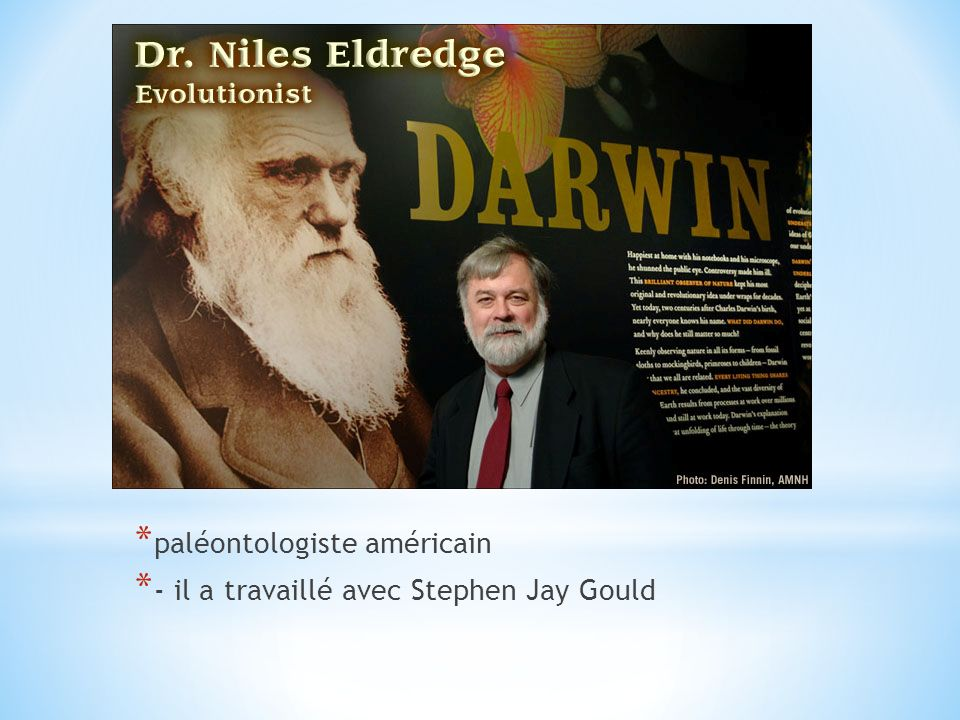 * paléontologiste américain * - il a travaillé avec Stephen Jay Gould
