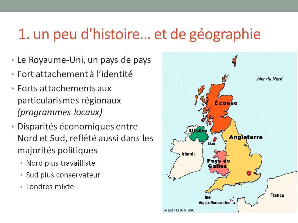 1. un peu d'histoire... et de géographie Le Royaume-Uni, un pays de pays Fort attachement à lidentité Forts attachements aux particularismes régionaux