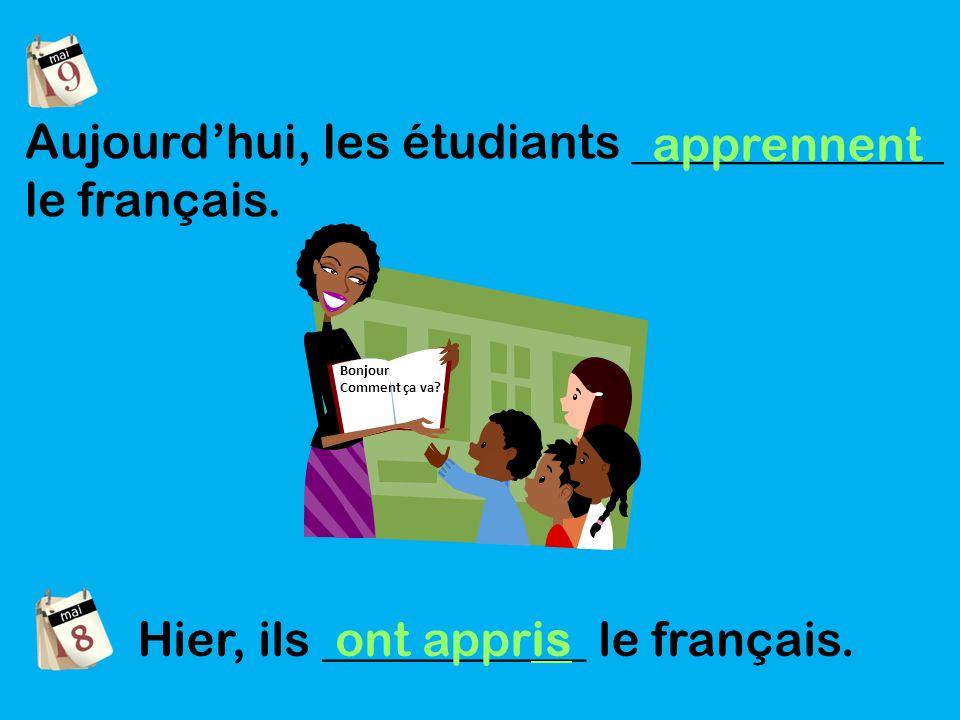Aujourdhui, les étudiants _____________ le français.