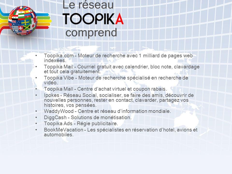Toopika.com – Moteur de recherche avec 1 milliard de pages web indexées.