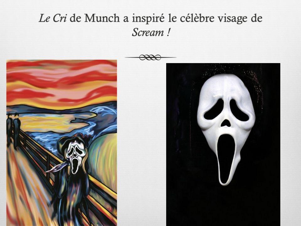 Le Cri de Munch a inspiré le célèbre visage de Scream !