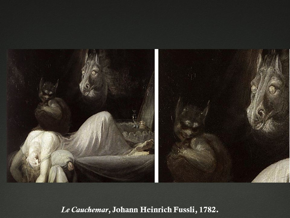 Le Cauchemar, Johann Heinrich Fussli, 1782.
