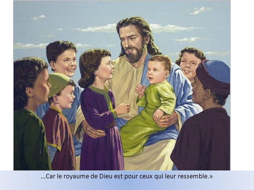 «Celui qui naccueille pas le Royaume comme un enfant, ny entrera pas!»