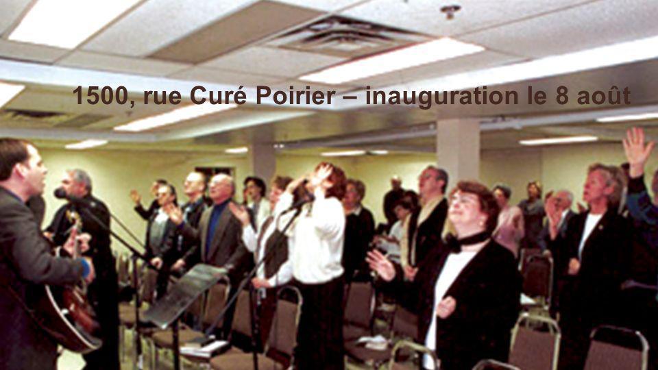 1500, rue Curé Poirier – inauguration le 8 août