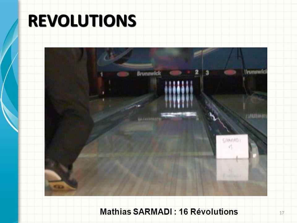 REVOLUTIONS 17 Mathias SARMADI : 16 Révolutions