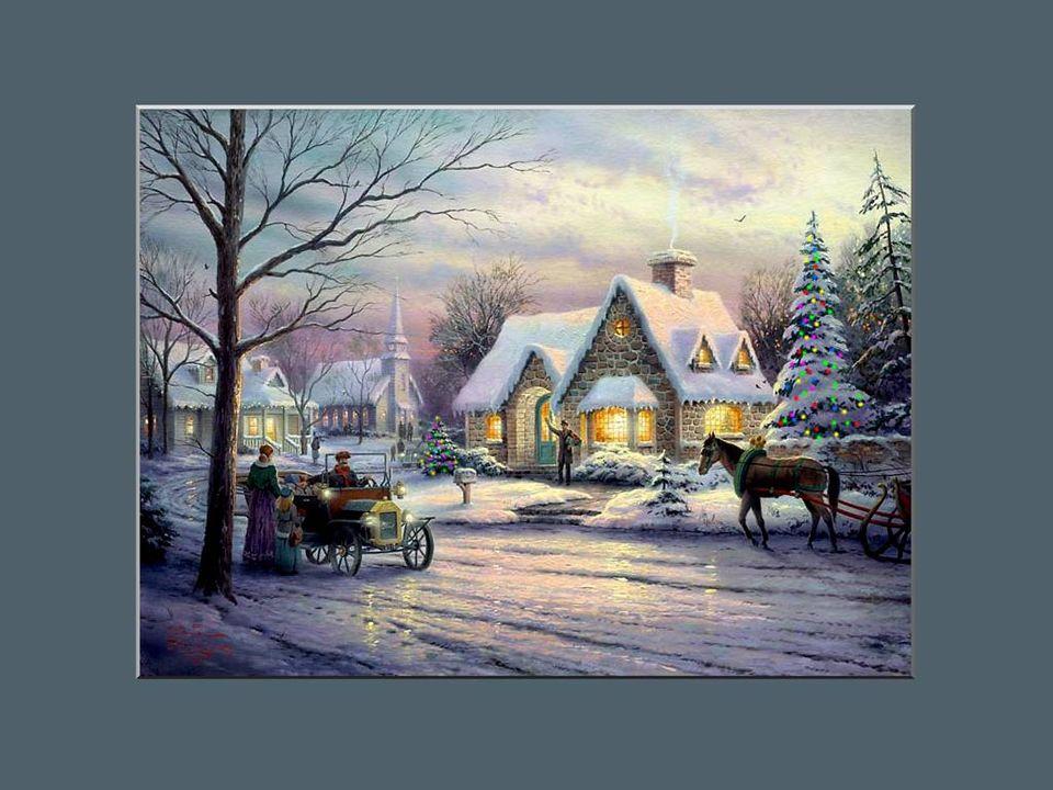 En ce temps-là il y avait beaucoup de monde à la maison pour célébrer la fête de Noël.