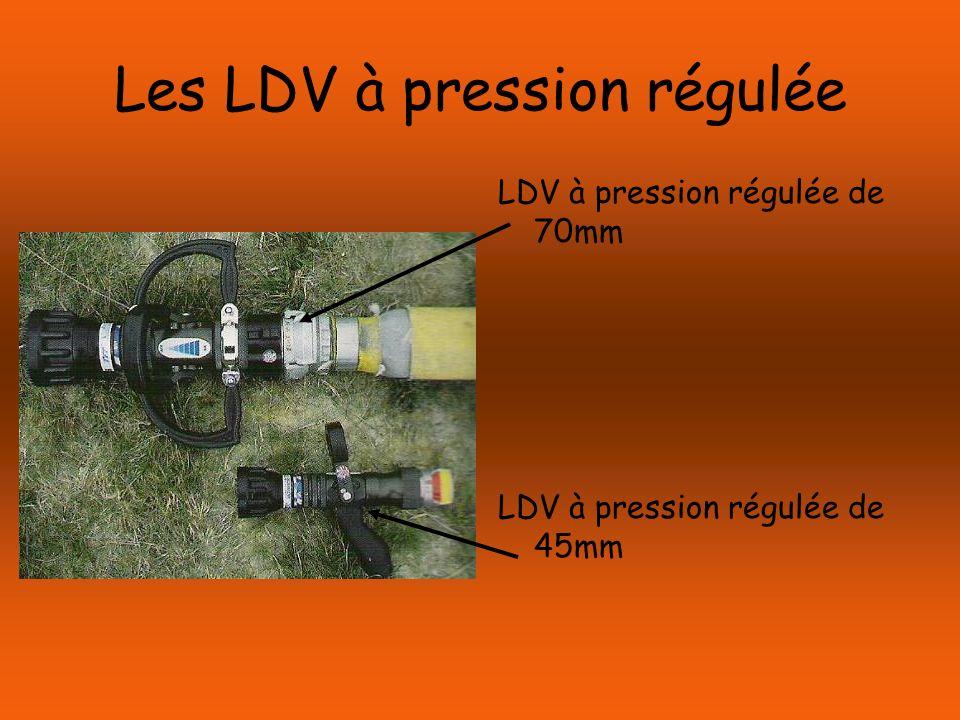 Les LDV à pression régulée LDV à pression régulée de 70mm LDV à pression régulée de 45mm