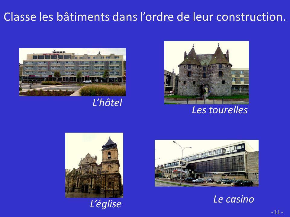 Cest un HÔTEL. Il a été construit à la même époque que le casino. - 10 -
