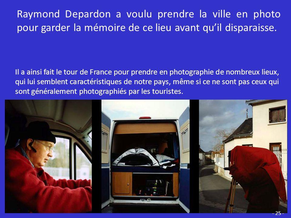 - 24 - Sur cette photographie du bord de mer de Dieppe, retrouve les différents éléments de limage de Raymond Depardon.