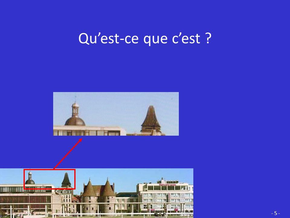 Ce sont des TOURELLES. Elles sont les vestiges de lENCEINTE qui entouraient la ville au Moyen-Âge. - 4 -