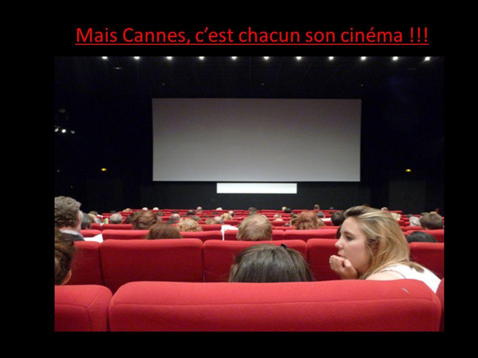 Mais Cannes, cest chacun son cinéma !!!