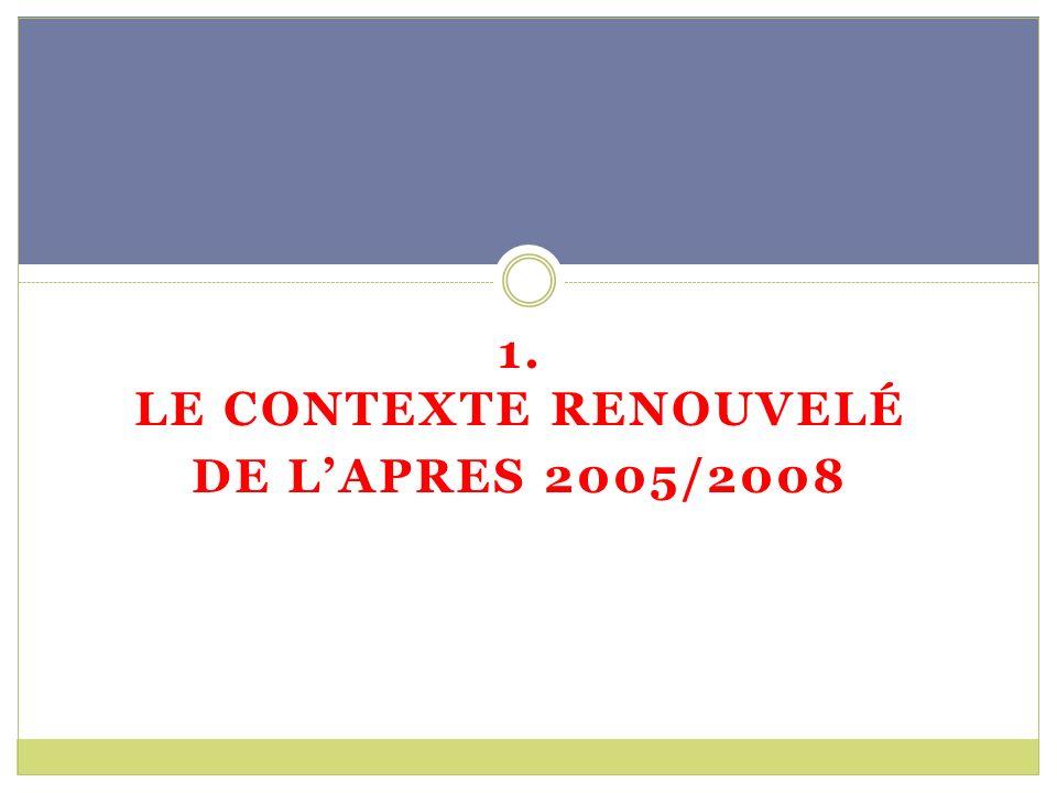 1. LE CONTEXTE RENOUVELÉ DE LAPRES 2005/2008